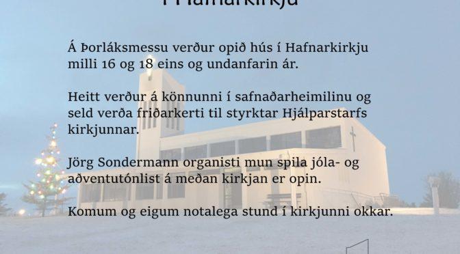Þorláksmessa í Hafnarkirkju