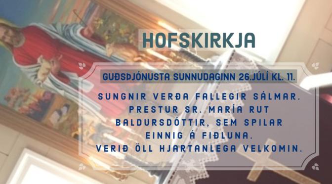 Sumar guðsþjónusta í Hofskirkju