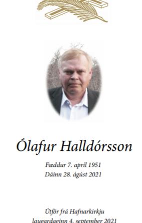 Útför Ólafs Halldórssonar